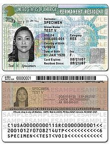 form i 485 nonimmigrant visa number  United States Permanent Resident Card – Wikipedia