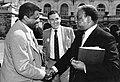 Unidentified man, Mayor Raymond L. Flynn, Chicago Mayor Harold Washington (9516901189).jpg