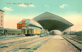 Peoria Union Station Passenger rail hub in Peoria, Illinois, United States