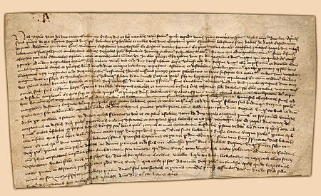 Act of Kreva signed on 14 August 1385 Union of Krewo.jpg