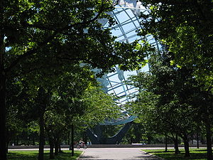 Alley leading to Unisphere in Flushing Meadows...