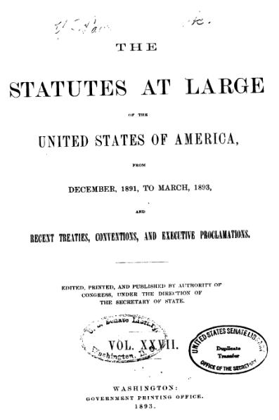 File:United States Statutes at Large Volume 27.djvu