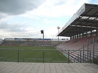 Sportpark Unterhaching - View of the north and east stands