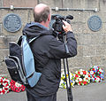 Unveiling plaque World War II evacuees Jersey 2013 19.jpg