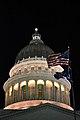 Utah State Capitol dome at night - July 2011.jpg