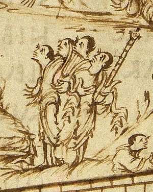 Cythara - Image: Utrechts Psalter PSALM 145 PSALM 146 lyre and cythara