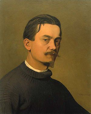Félix Vallotton - Félix Vallotton, Mon Portrait, 1897, oil on canvas, 58 x 47 cm, private collection