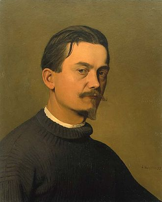 Félix Vallotton - Mon Portrait (oil on canvas, 58 x 47 cm; 1897)