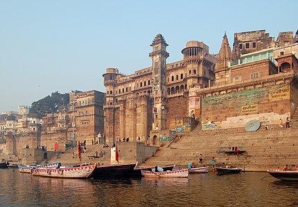 Varanasi, India as seen from Ganga river.