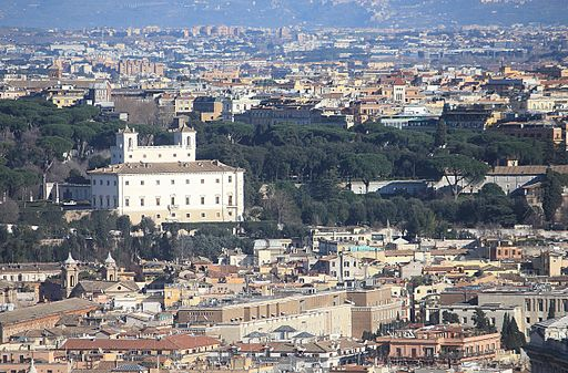 Vatikan, Blick vom Petersdom zur Villa Medici