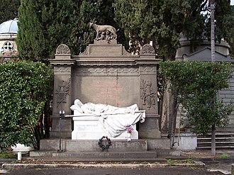 Goffredo Mameli - Image: Verano Monument to Goffredo Mameli