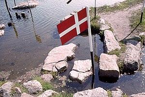 World Map at Lake Klejtrup - Image: Verdenskortet ved Klejtrup Sø 002