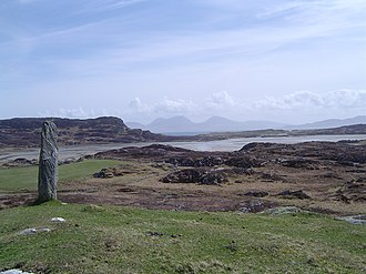 Colonsay - Image: View from Colonsay to Oronsay