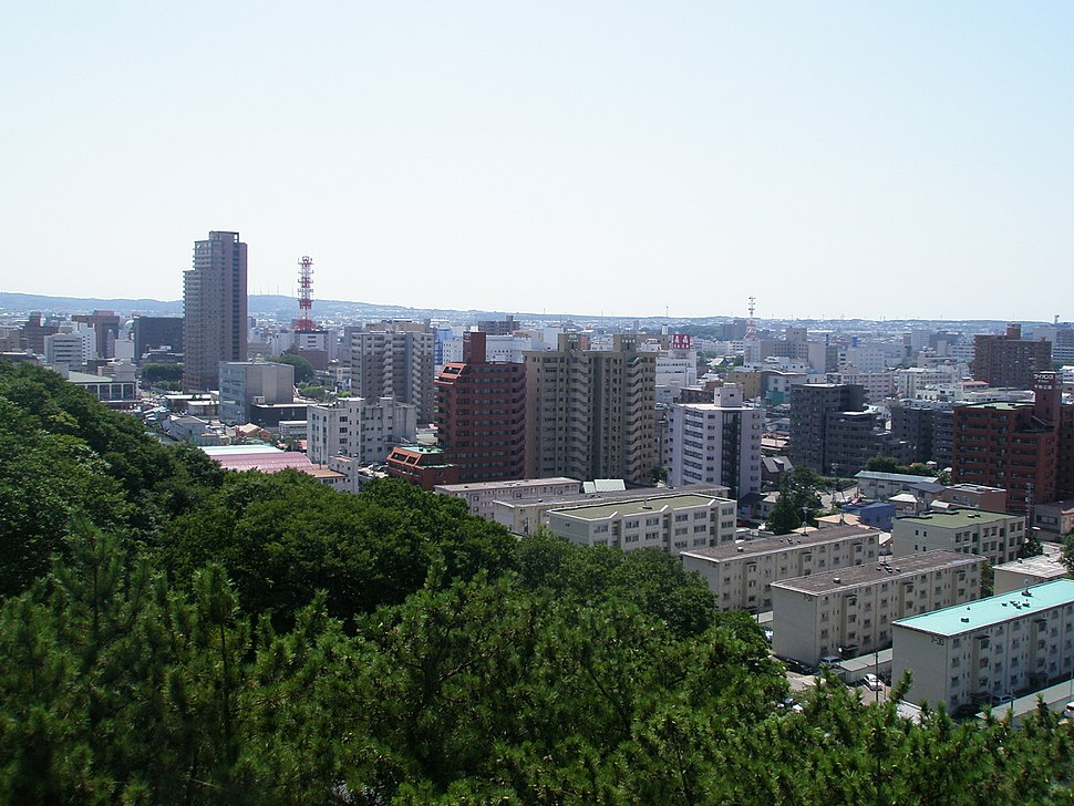 View of Akita city from Kubota Castle 01