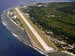 Nauru Airport is located between Boe and Yaren