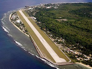 Japanese occupation of Nauru - Nauru International Airport a legacy of the Japanese occupation