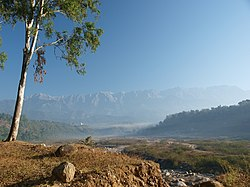 View of a Himalayan valley, Himchal Pradesh