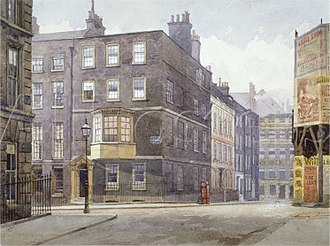 John Crowther - Image: View of the Junction of Howard Street and Norfolk Street, London, 1880 by John Crowther