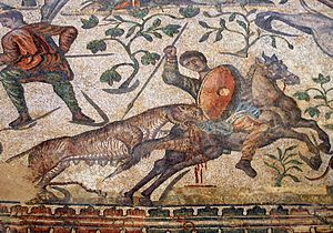 La Olmeda - The hunt mosaic from La Olmeda