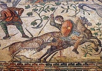La Olmeda - The hunt mosaic from La Olmeda