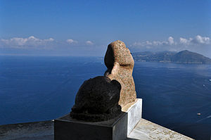 Capri. Sphinx at Villa San Michele.