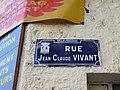 Villeurbanne - Rue Jean-Claude Vivant - Plaque (janv 2019).jpg