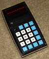 Vintage Texas Instruments Electronic Pocket Calculator, Model TI-1500, Red LED, Circa 1974 (14180747294).jpg