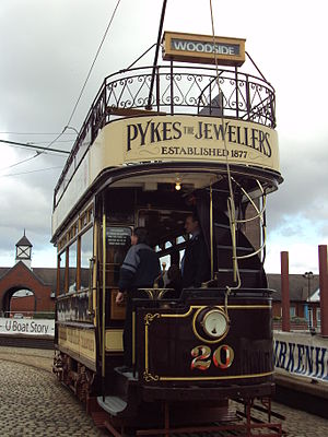Vintage tram on the Birkenhead Heritage Tramwa...