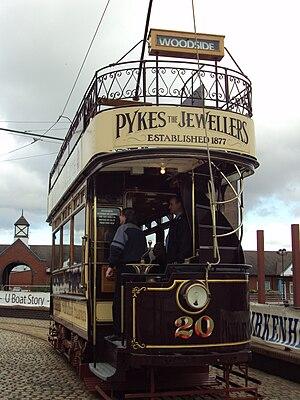 Vintage tram on the Birkenhead Heritage Tramwa...