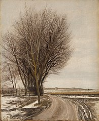 Vinter landskab, Baldersbrønde