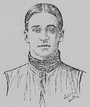 Virginius Dabney (American football) - Depiction of Dabney c. 1900