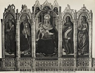Madonna with child and four saints