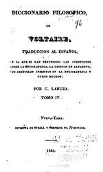 Voltaire: Español: Diccionario filosófico