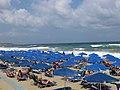 Vue de la plage de Réthymnon.JPG