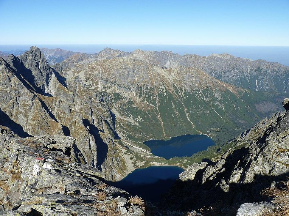 Vysoké Tatry, výhled z vrcholu Rysy, září 2011 (29)