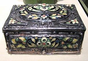 Elizabeth E Copeland (1866 - 1957) Covered Box...