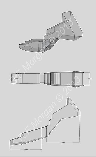 WV25 - Isometric, plan and elevation images of WV25 taken from a 3d model