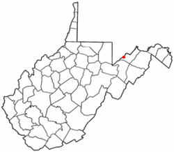Location of Elk Garden, West Virginia