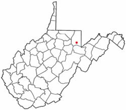 Location of Rowlesburg, West Virginia