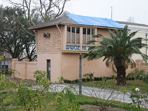 WWOZ - Former WWOZ studio after Hurricane Katrina, January 2006