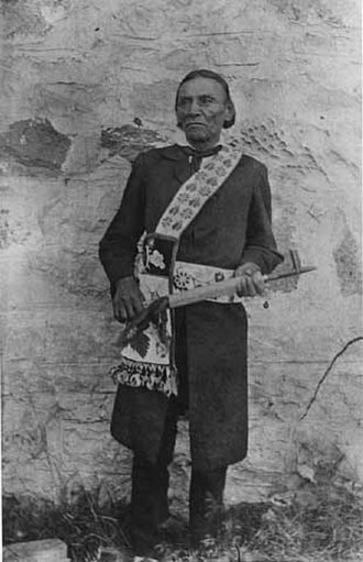 Wabanquot (Chippewa chief) - Chief Wa-bon-o-quot (White Cloud) of the White Earth Indian Reservation, c. 1895. Photo courtesy of the Minnesota Historical Society