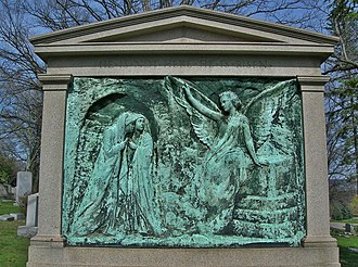 Homewood Cemetery - Image: Walker Monument, Bronze Relief by Max Bachmann, Homewood Cemetery, Pittsburgh, PA March 2016
