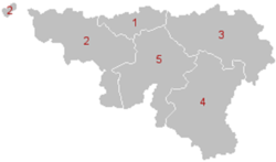 Location of Walloon Region
