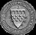 Walter Stewart, Earl of Menteith (seal).png