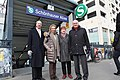 Walter and Anne Momper with Ambassador and Mrs. Emerson at Schönhauser Allee S-Bahnhof (25376388942).jpg
