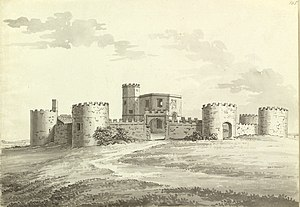 Walton Castle - Walton Castle in 1788 drawn by Samuel Hieronymus Grimm