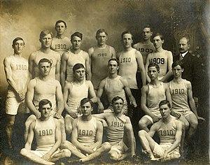 Washington & Jefferson Presidents - Image: Wand J Track Team 1907
