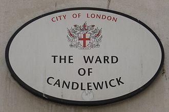 Candlewick - Ward plaque