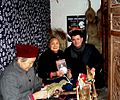 Warren Rodwell and Hakka women promoting book in south west China.jpg