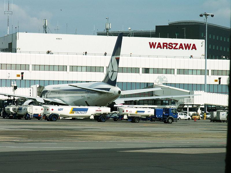 File:Warszawa airport (from plane).jpg